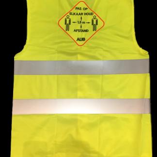 veiligheidsvestje geel 1,5 meter afstand